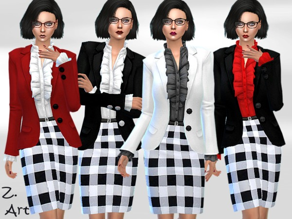 Sims 4 Business 01 outfit by Zuckerschnute20 at TSR