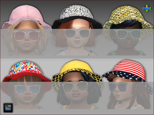 6 sets swimsuits, hats and sunglasses for toddlers at Arte Della Vita image 4717 Sims 4 Updates