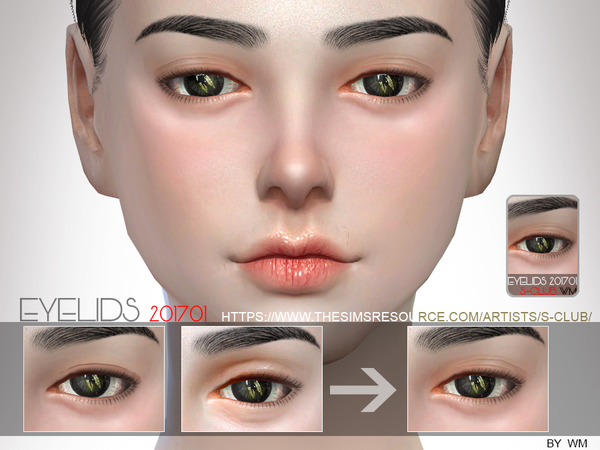 Skin Detail Eyelid 201701 by S Club WM at TSR image 4721 Sims 4 Updates