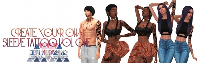 Sleeve Tattoo Vol 1 Floral by EnticingSims at SimsWorkshop image 4815 670x214 Sims 4 Updates