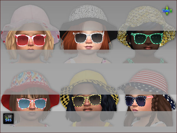 6 sets swimsuits, hats and sunglasses for toddlers at Arte Della Vita image 4816 Sims 4 Updates