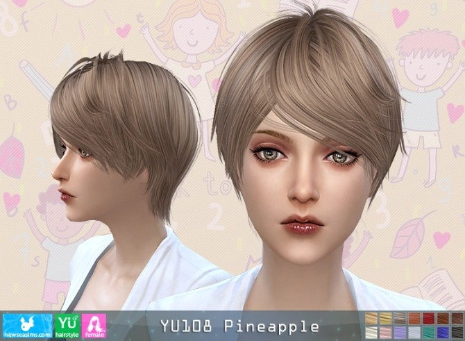 YU108 Pineapple hair F (Pay) at Newsea Sims 4 image 5021 670x491 Sims 4 Updates