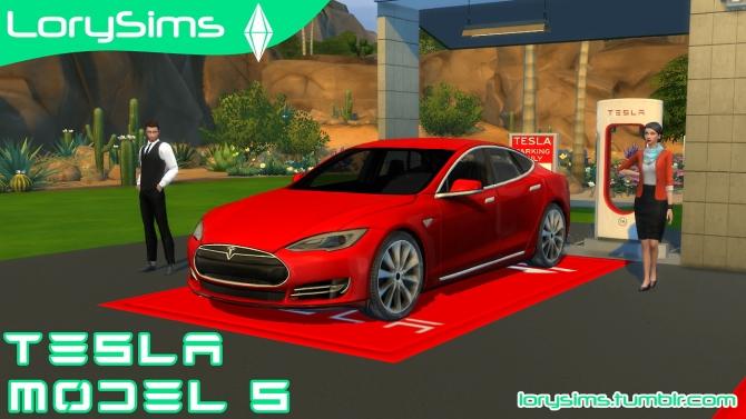 Tesla Model S At Lorysims 187 Sims 4 Updates