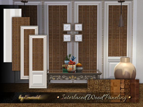 Interlaced Wood Paneling by emerald at TSR image 506 Sims 4 Updates