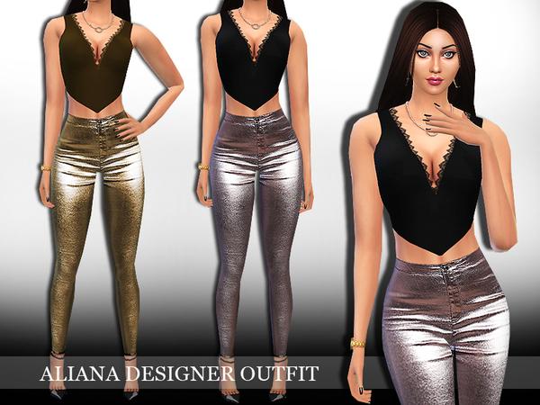 Sims 4 Aliana Trendy Outfit by Saliwa at TSR