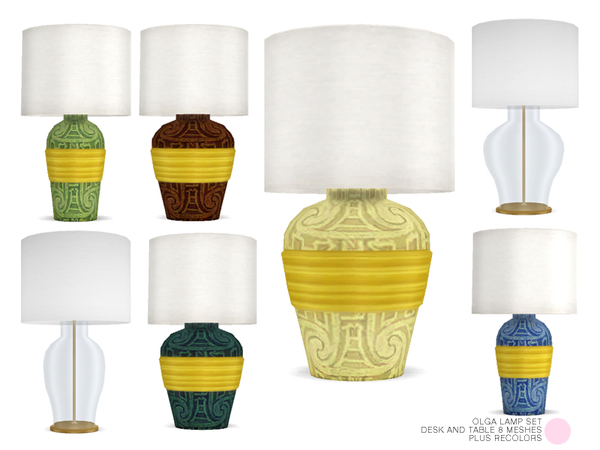 Olga Lamp Set by DOT at TSR image 5103 Sims 4 Updates