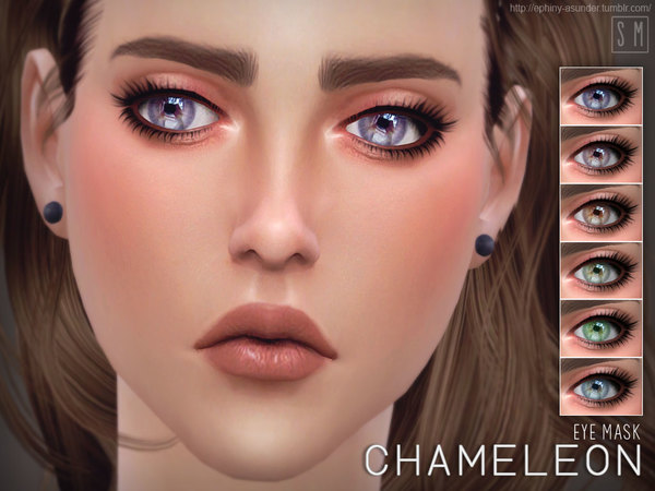 Chameleon Eye Mask by Screaming Mustard at TSR image 5106 Sims 4 Updates