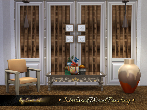 Interlaced Wood Paneling by emerald at TSR image 5110 Sims 4 Updates