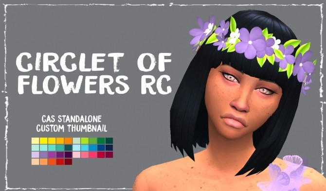 Circlet of Flowers RC by Sympxls at SimsWorkshop image 5115 670x393 Sims 4 Updates