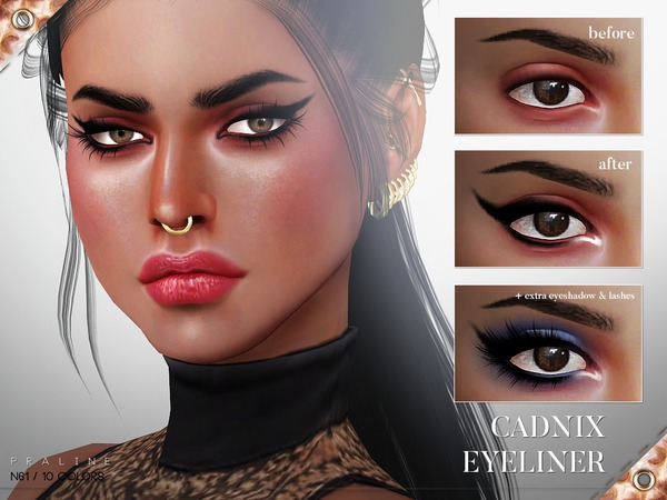 Cadnix Eyeliner N61 by Pralinesims at TSR image 513 Sims 4 Updates