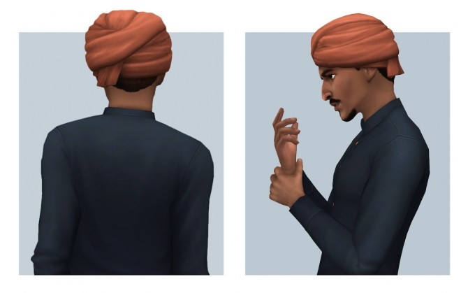 Sims 4 Simple Turban at Femmeonamissionsims