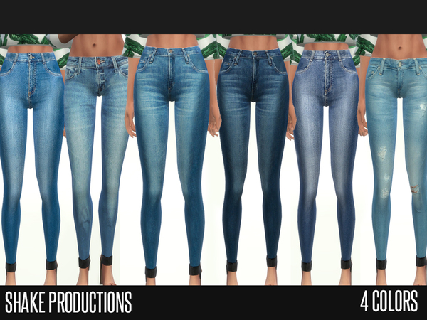 Sims 4 4 jeans 4 colors by ShakeProductions at TSR