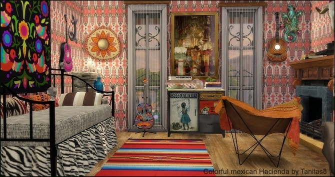Sims 4 Colorful mexican Hacienda at Tanitas8 Sims