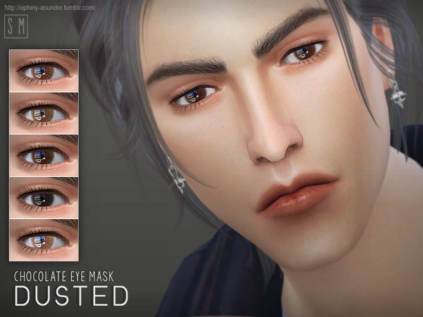 Dusted Chocolate Eyemask by Screaming Mustard at TSR image 5220 Sims 4 Updates
