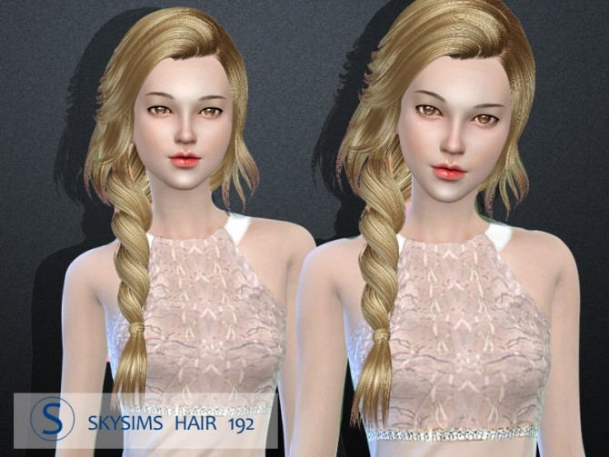 Skysims hair 192 (Pay) at Butterfly Sims image 5324 670x503 Sims 4 Updates