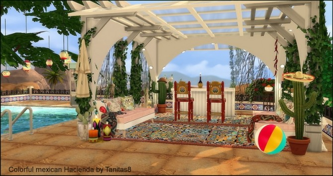 Colorful mexican Hacienda at Tanitas8 Sims image 5418 670x355 Sims 4 Updates
