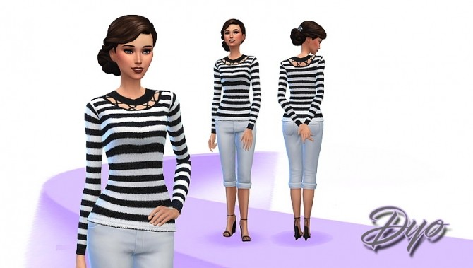 Sweater women 1 by Dyokabb at Les Sims4 image 5517 670x379 Sims 4 Updates