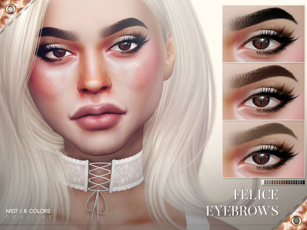 Sims 4 Felice Eyebrows N107 by Pralinesims at TSR