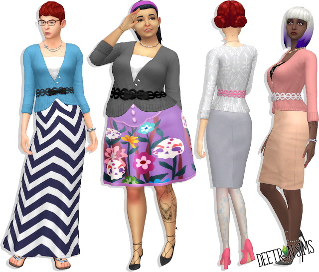 Belted Bow Cardi v.2 at Deetron Sims image 573 Sims 4 Updates