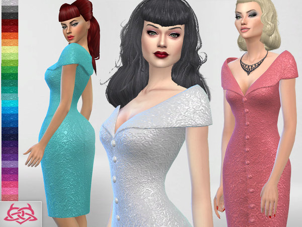 Paloma dress v. Tubo by Colores Urbanos at TSR image 5811 Sims 4 Updates