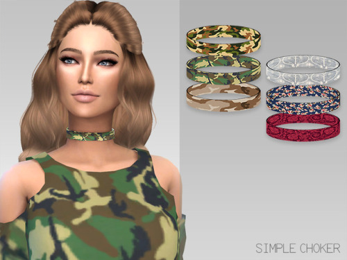 Sims 4 Simple Choker with Patterns at GrafitySims