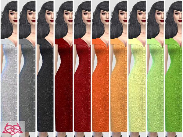 Paloma dress v. Tubo by Colores Urbanos at TSR image 5912 Sims 4 Updates