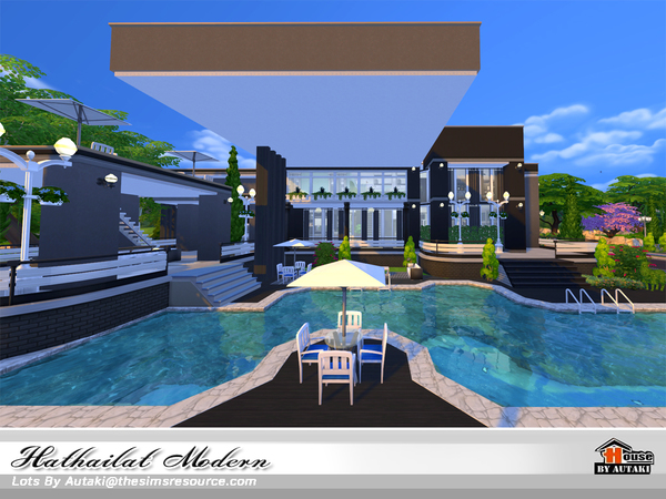 Hathairat Modern house by autaki at TSR image 5921 Sims 4 Updates