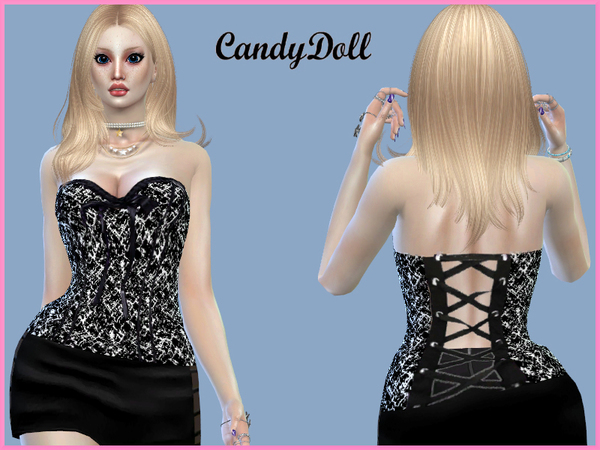 Sims 4 Pretty Corset by CandyDolluk at TSR