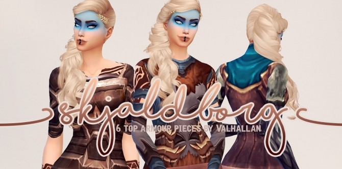 Sims 4 Skjaldborg armour tops at Valhallan