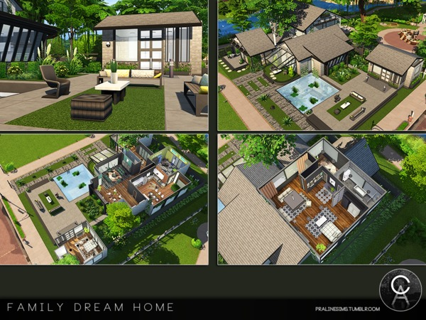 Sims 4 Family Dream Home by Pralinesims at TSR