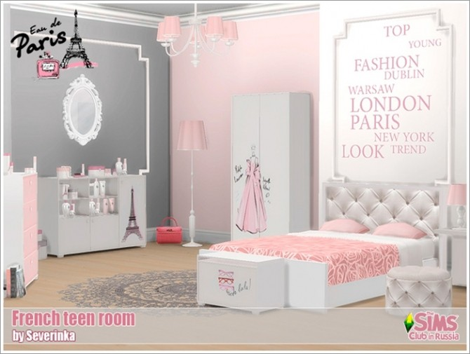 French teen room at Sims by Severinka image 6011 670x505 Sims 4 Updates