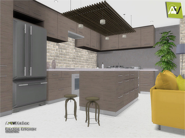 Risator Kitchen by ArtVitalex at TSR image 6014 Sims 4 Updates