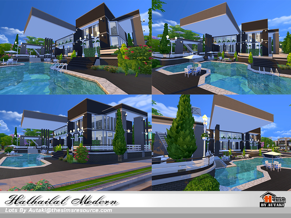 Hathairat Modern house by autaki at TSR image 6016 Sims 4 Updates