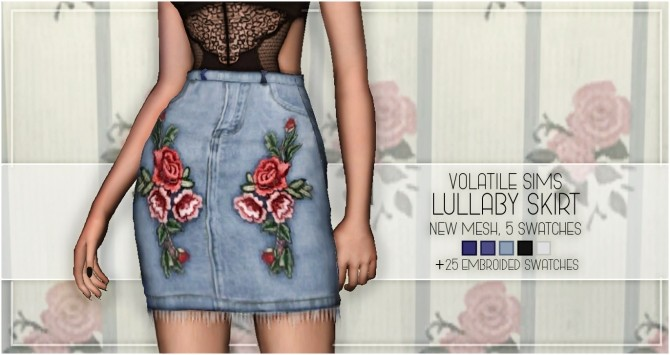 Sims 4 LULLABY SKIRT at Volatile Sims