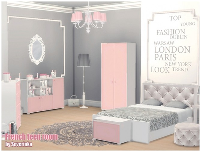 French teen room at Sims by Severinka image 6115 670x505 Sims 4 Updates