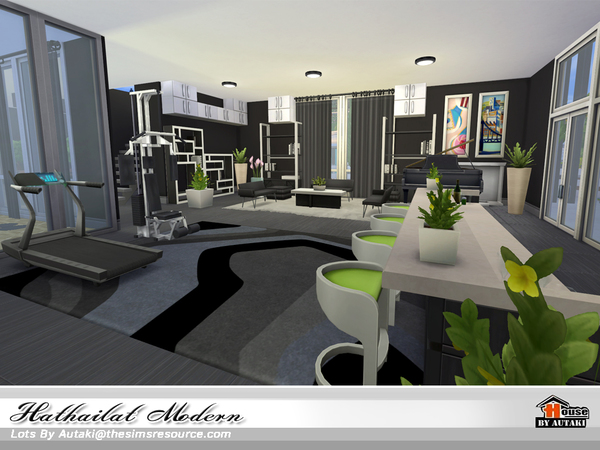 Hathairat Modern house by autaki at TSR image 6121 Sims 4 Updates