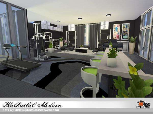 Hathairat Modern house by autaki at TSR image 6121 Sims 4 Updates