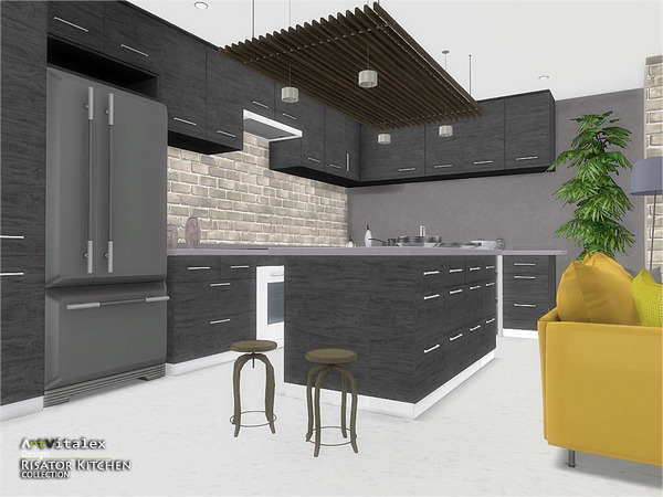 Risator Kitchen by ArtVitalex at TSR image 6214 Sims 4 Updates