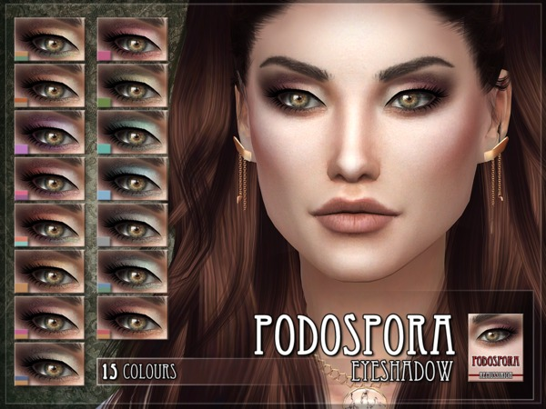 Podospora Eyeshadow by RemusSirion at TSR image 623 Sims 4 Updates
