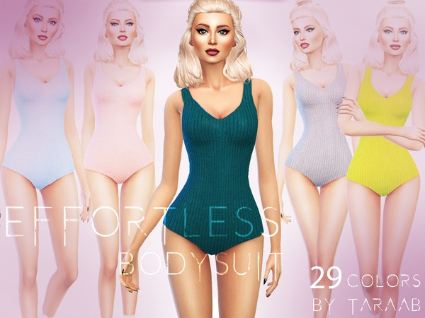 Effortless Bodysuit by taraab at TSR image 633 Sims 4 Updates