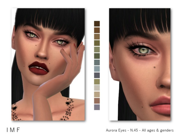 IMF Aurora Eyes N.45 F/M/C by IzzieMcFire at TSR image 634 Sims 4 Updates