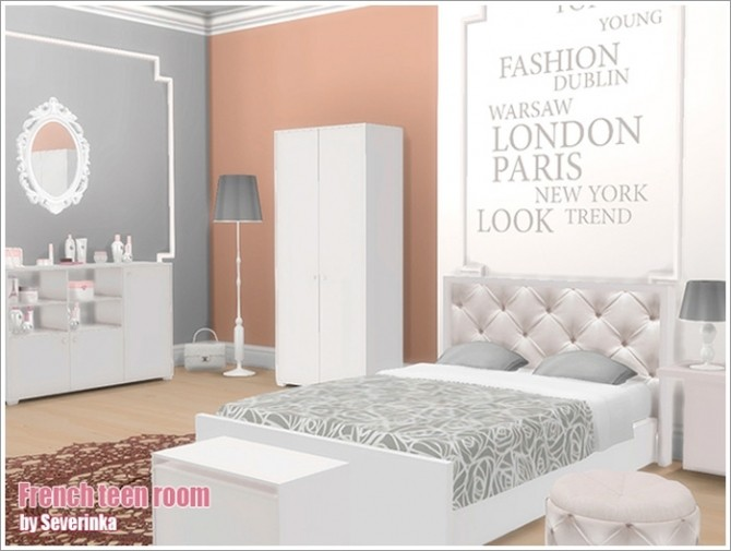 French teen room at Sims by Severinka image 636 670x505 Sims 4 Updates