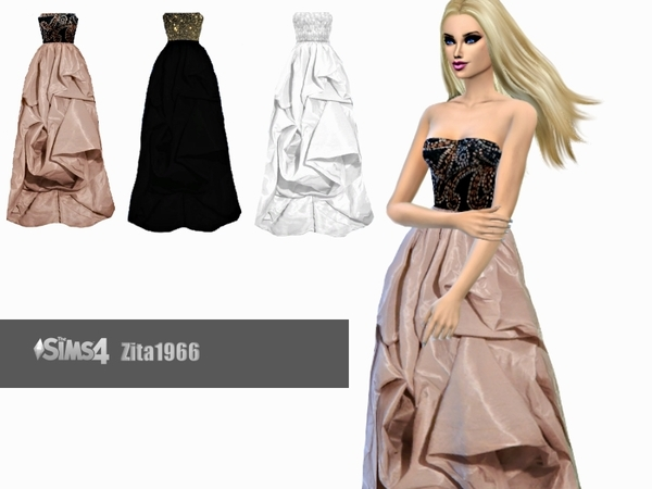 Ball Gown by ZitaRossouw at TSR image 6511 Sims 4 Updates