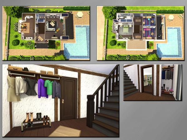Sims 4 MB Mixed Modern hose by matomibotaki at TSR