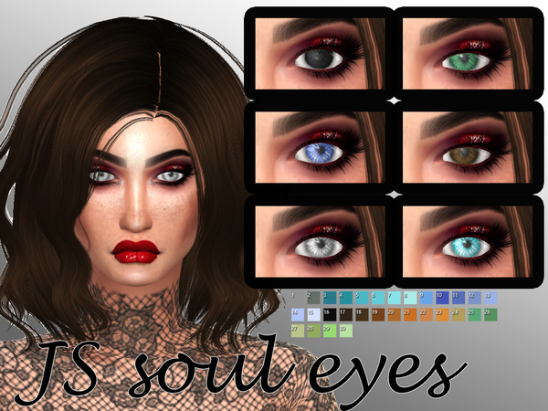 Soul eyes by JigglySimmer at TSR image 653 Sims 4 Updates
