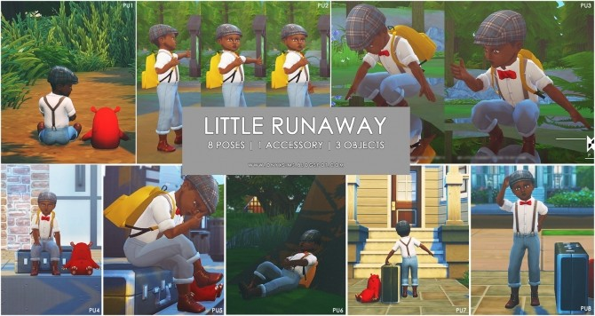 Little Runaway Set at Onyx Sims image 655 670x356 Sims 4 Updates