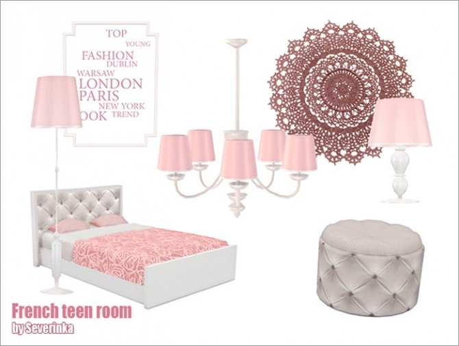 French teen room at Sims by Severinka image 656 670x505 Sims 4 Updates