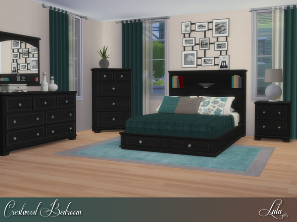Crestwood Bedroom by Lulu265 at TSR image 670 Sims 4 Updates