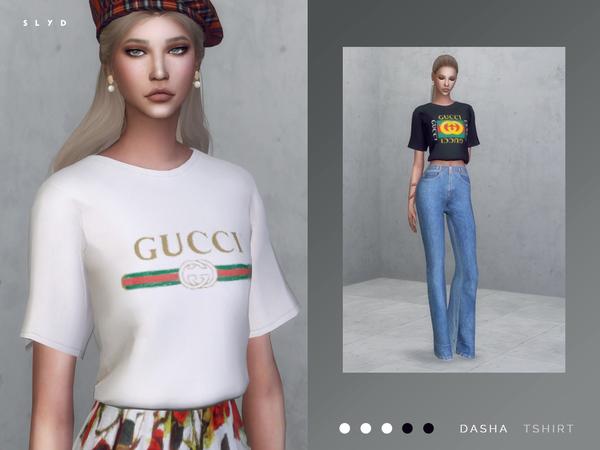 Dasha T Shirt By Slyd At Tsr 187 Sims 4 Updates