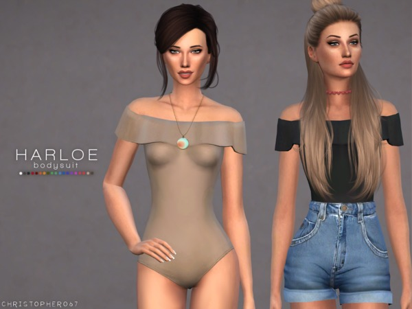 Harloe Bodysuit Set by Christopher067 at TSR image 6712 Sims 4 Updates